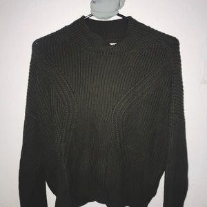 Olive turtleneck sweatshirt